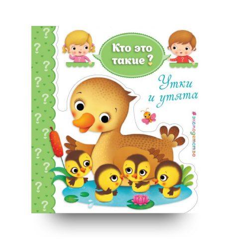 Утки и утята - книга для малышей - обложка