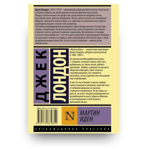 книга Мартин Иден обложка 2