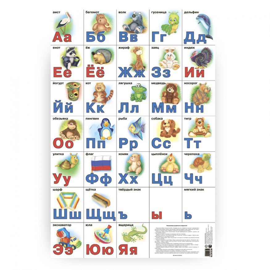 russkiy alfavit plakat