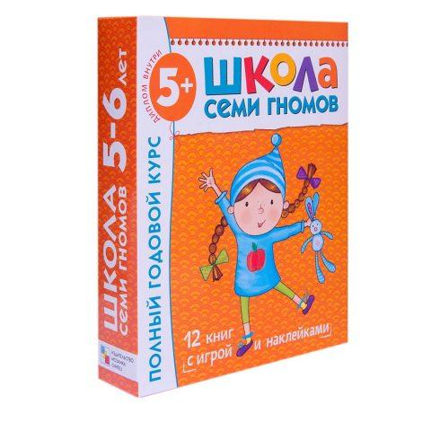 книга-Школа Семи Гномов 5-6 лет. Полный годовой курс (12 книг с играми и  наклейками )/купить в Италии