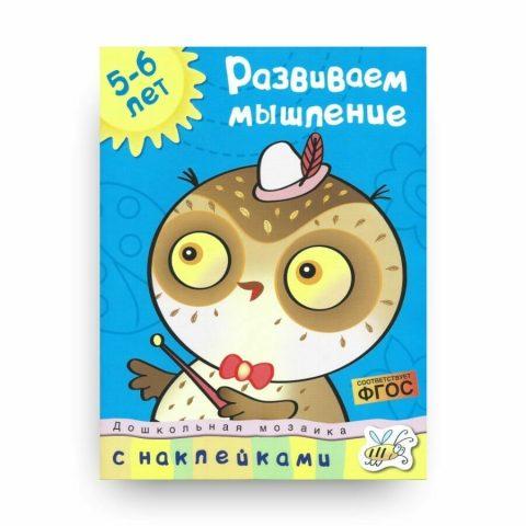 Книга Ольги Земцовой Развиваем мышление. 5-6 лет. Дошкольная мозаика обложка