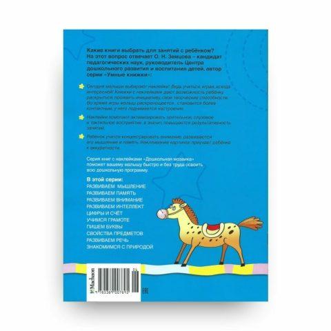Книга Ольги Земцовой Развиваем внимание. 5-6 лет. Дошкольная мозаика обложка 2