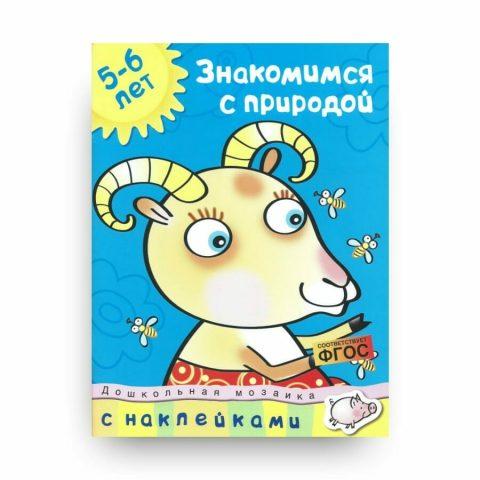 Книга Ольги Земцовой Знакомимся с природой. 5-6 лет. Дошкольная мозаика обложка