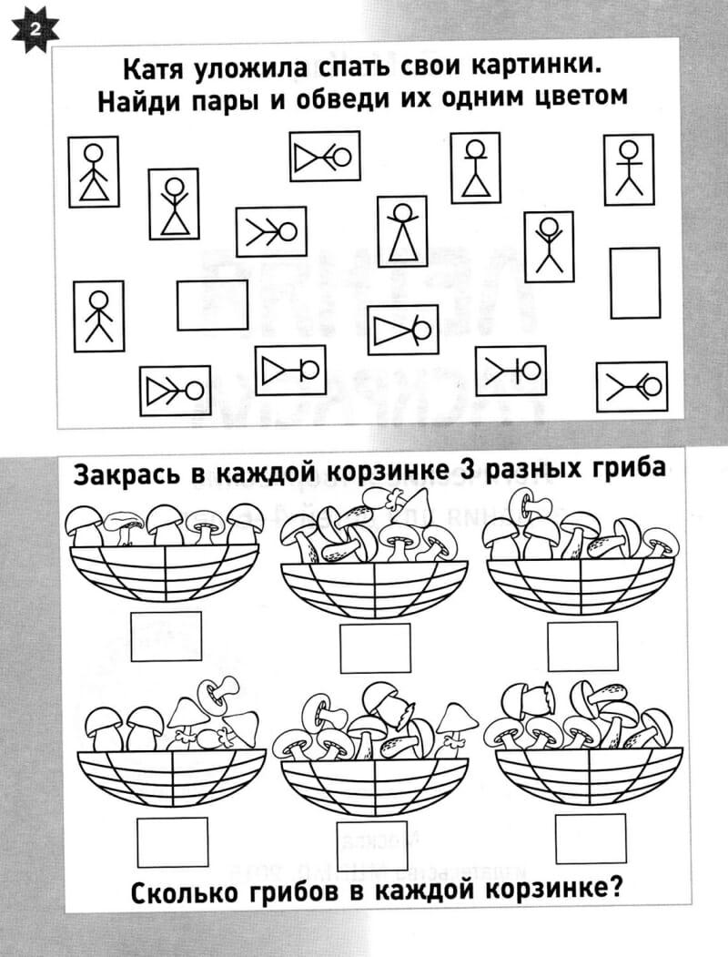 Книга Маши Кац Летняя тетрадка. Логические и творческие задания для детей 4-6 лет. Мышематика иллюстрации 1
