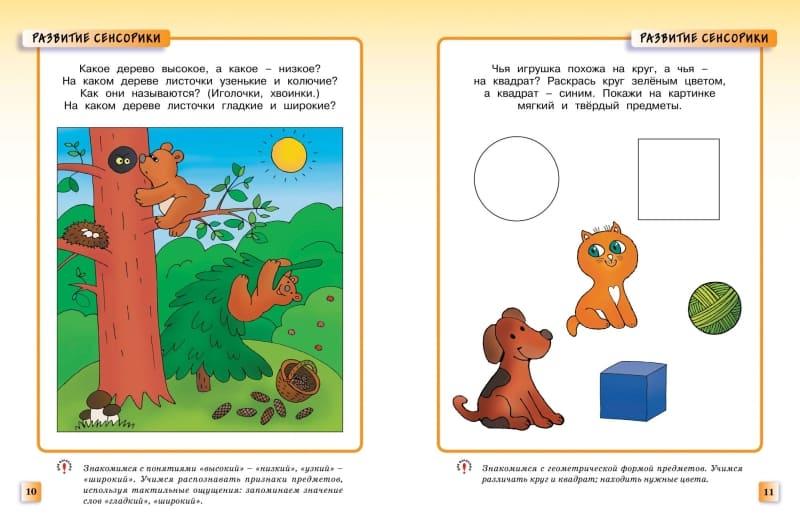 Книга Ольги Земцовой Развивающие тесты для детей 2-3 лет. Серия Умные книжки иллюстрации 2