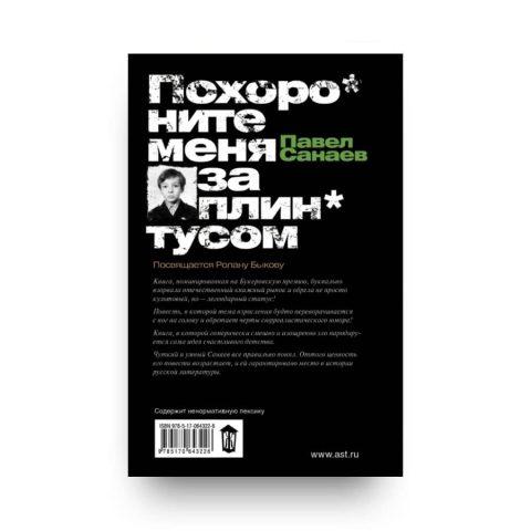 Книга Павла Санаева Похороните меня за плинтусом обложка 2
