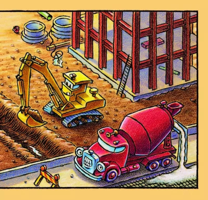 Книга для малышей Шерри Даски Ринкер Стройка, баюшки-баю иллюстрации 2