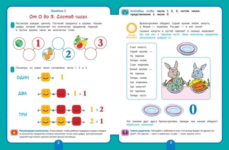 Книга Математика. Старшая группа. 5+Рабочая тетрадь для детского сада разворот 1